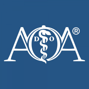 American Osteopathic Association logo - Blue