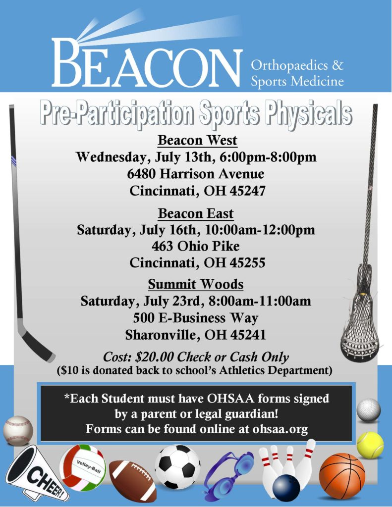 High School Physicals All Beacon 2016