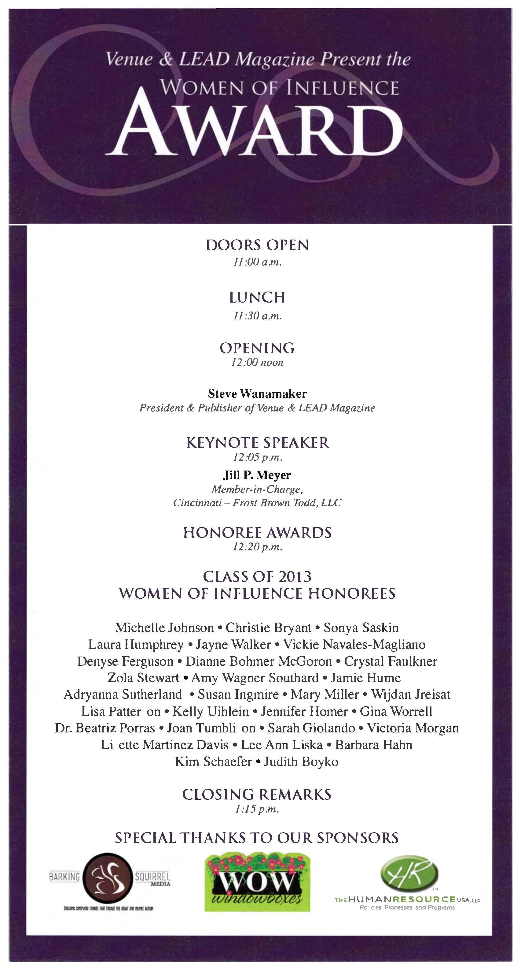 Jayne Walker Honored in Inaugural Class of Women of ...