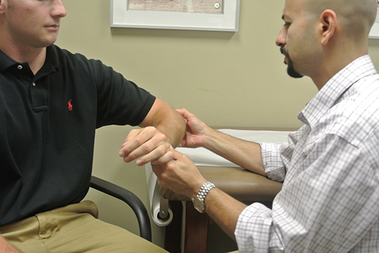 Diagnosing a patients elbow condition