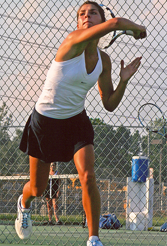 Sudden changes in direction put tennis players at higher risk of an ACL injury.